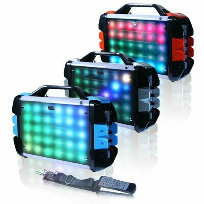 """Fully Amplified Portable 1000 Watts Peak Power 6.5"""" Speaker with led light"""