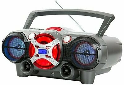 QFX J-50U Portable Jumbo Bluetooth Boombox Radio with MP3/CD Player and Cassette Recorder