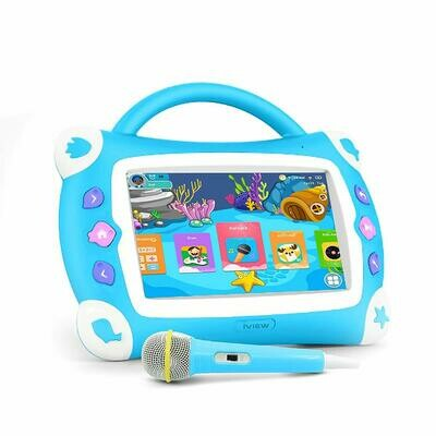 "iView Sing Pad 711TPC, 7"" Kids Tablet with WiFi, Microphone, Preloaded Children's Games, Karaoke, Parental Control, Tablet Case with Built-in Stand"