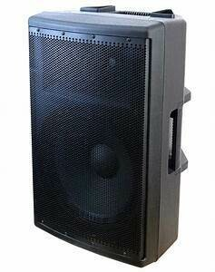 "Toptech Audio Fully Amplified 4500 Watts Peak Power 15"" 2- Way Speaker"