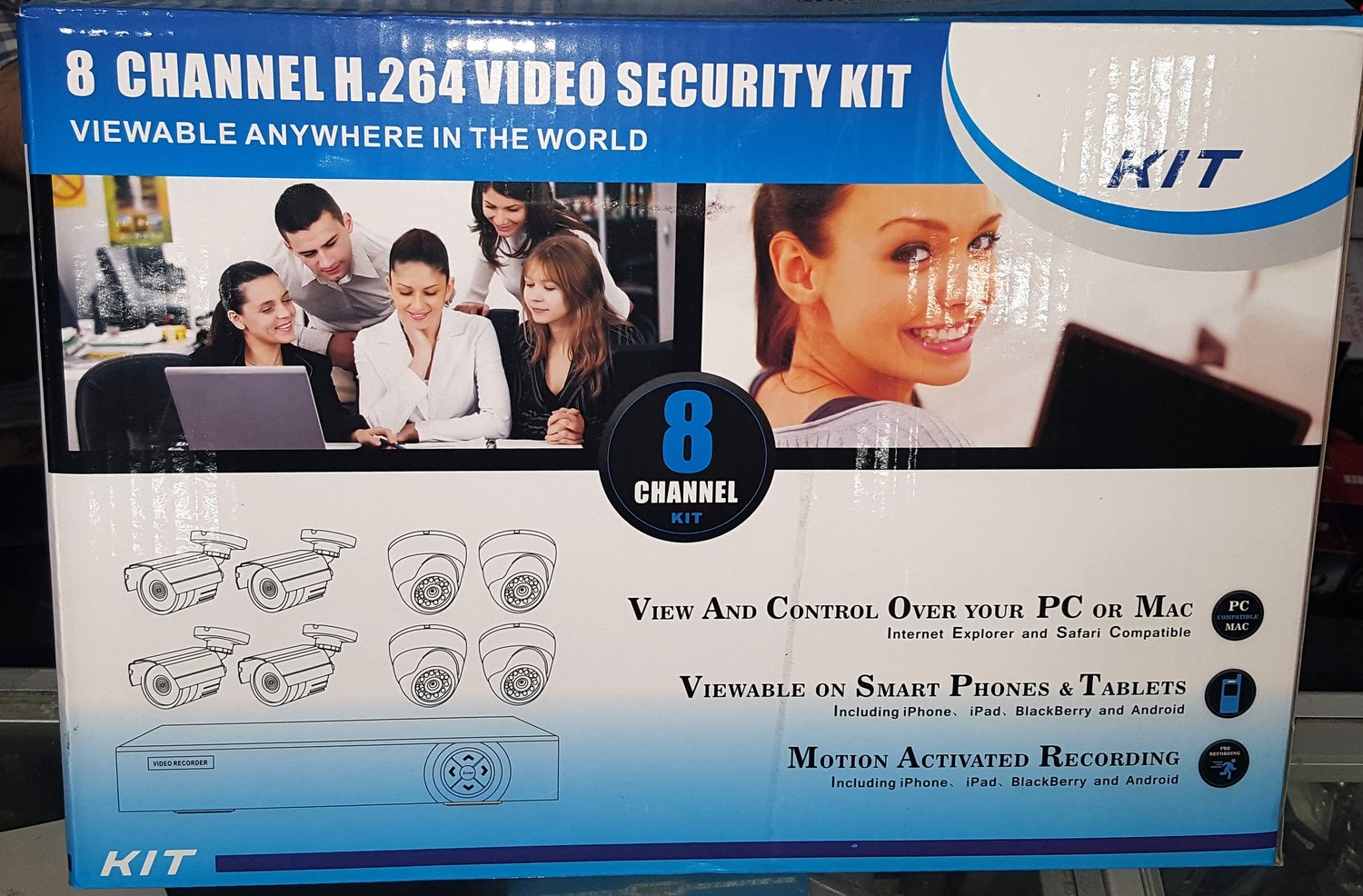 8 Channel Video Security Kit