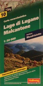Wanderkarte -Lago di Lugano Malcantone