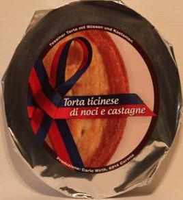Torta ticinese - Nuss und Kastanie
