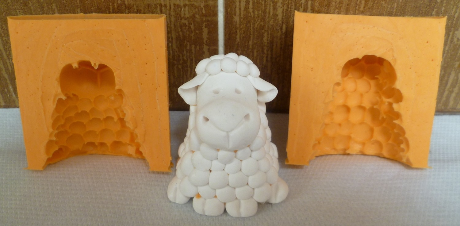 3D SHEEP SILICONE MOULD