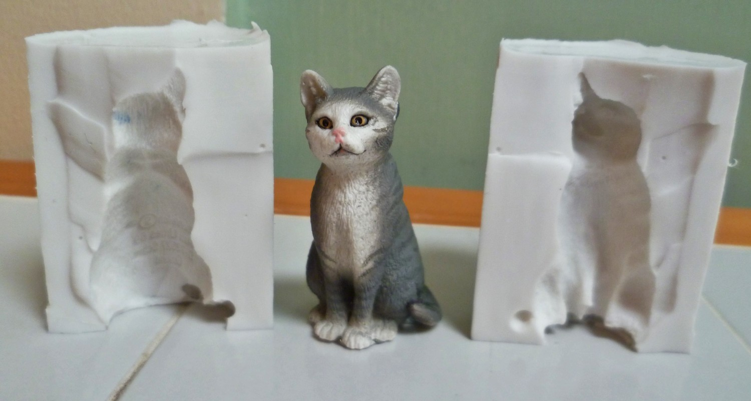 3D SMALL CAT SILICONE MOULD