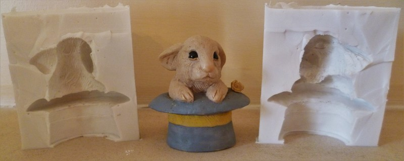 3D RABBIT IN A HAT SILICONE MOULD