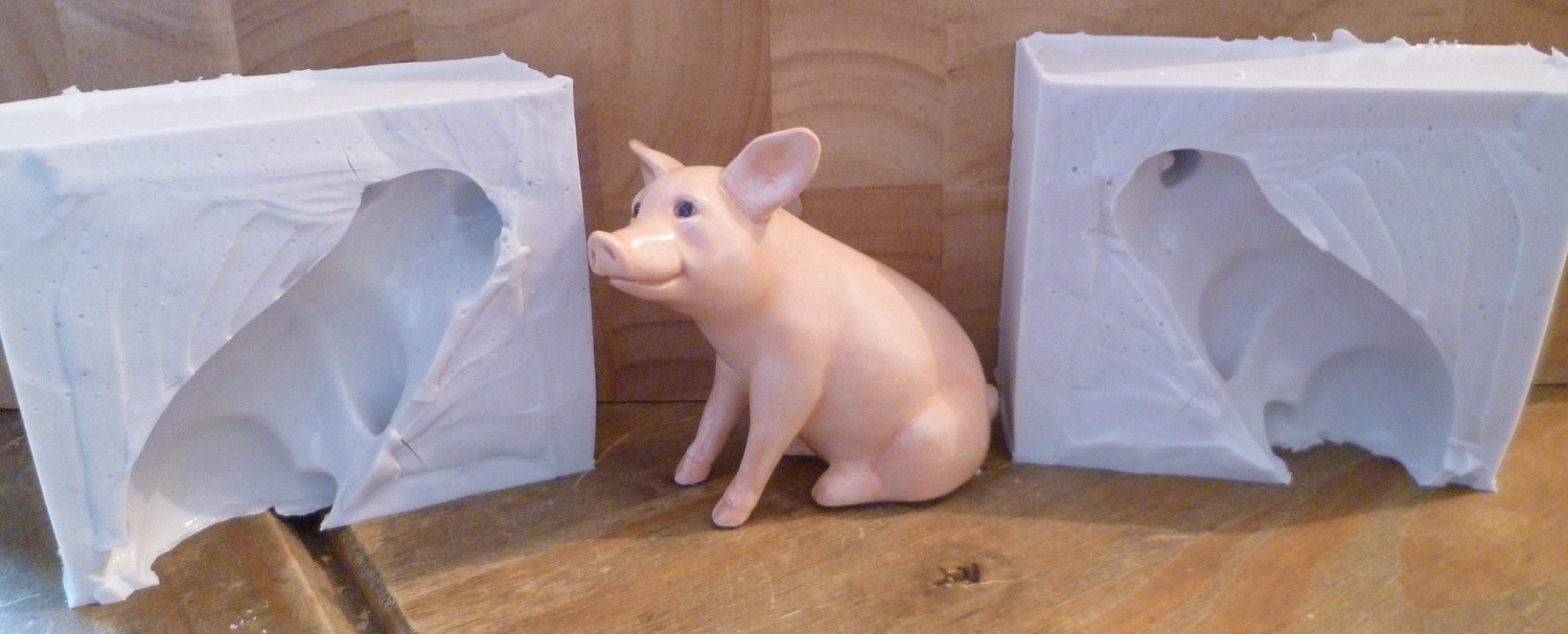 3D BABE PIG SILICONE MOULD