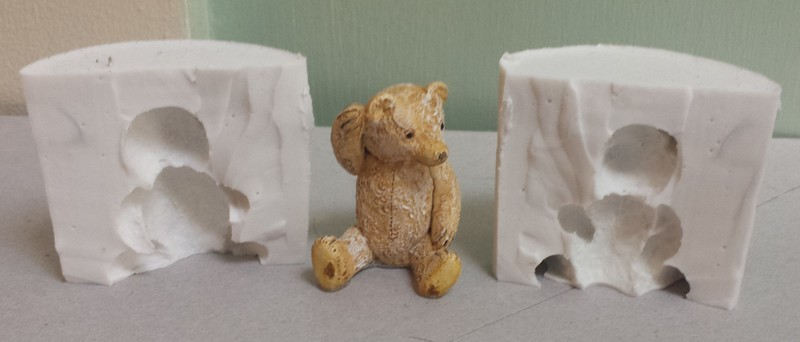 3D TEDDY SILICONE MOULD (POURABLE SILICONE)