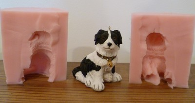 NEW 3D BORDER COLLIE SILICONE MOULD