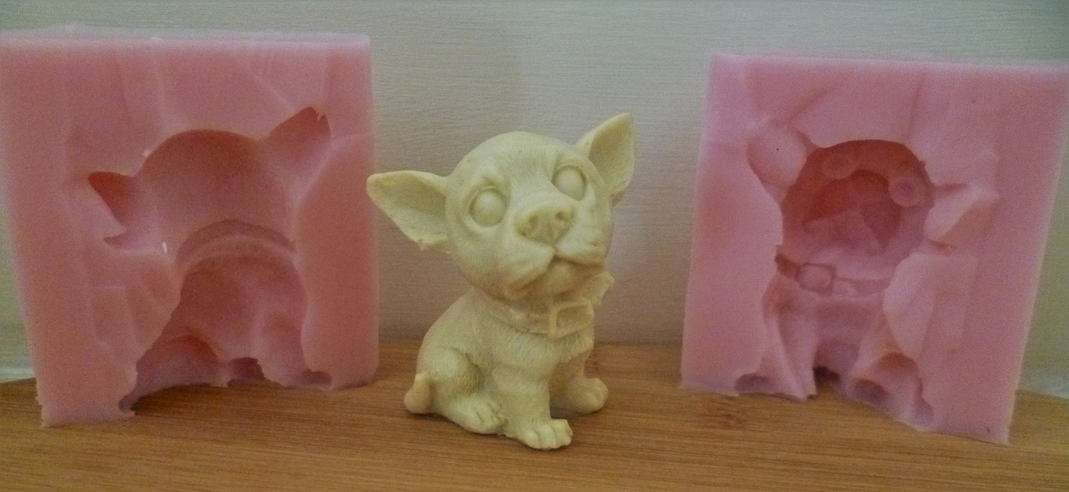 3D CHIHUAHUA SILICONE MOULD
