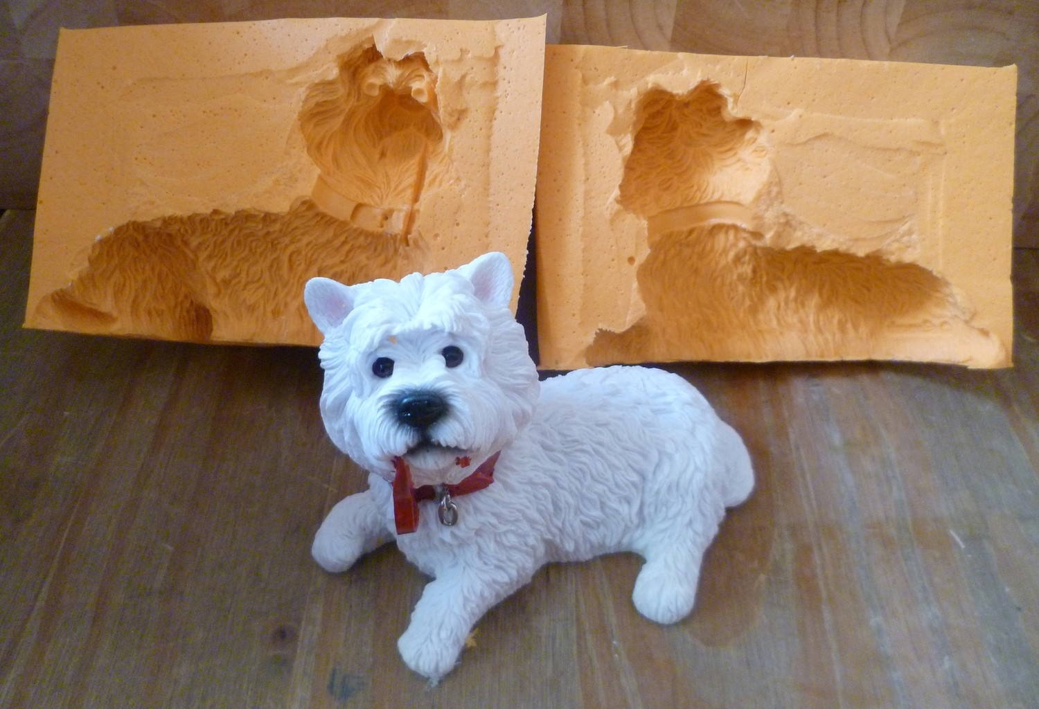 3D LARGE WESTIE SILICONE MOULD