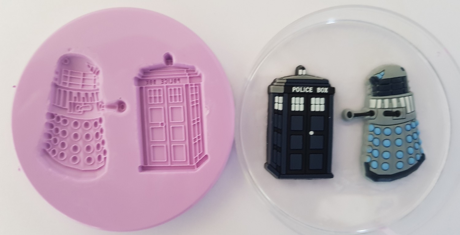 DR WHO SILICONE MOULDS