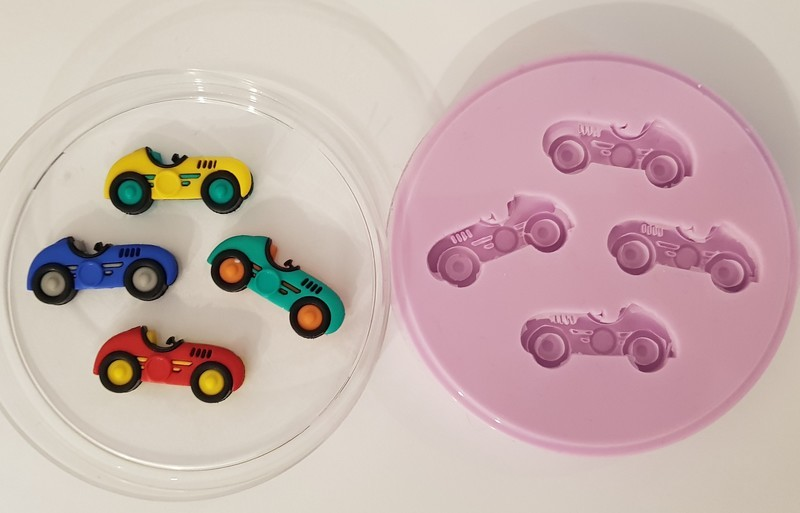 RACING CARS SILICONE MOULD