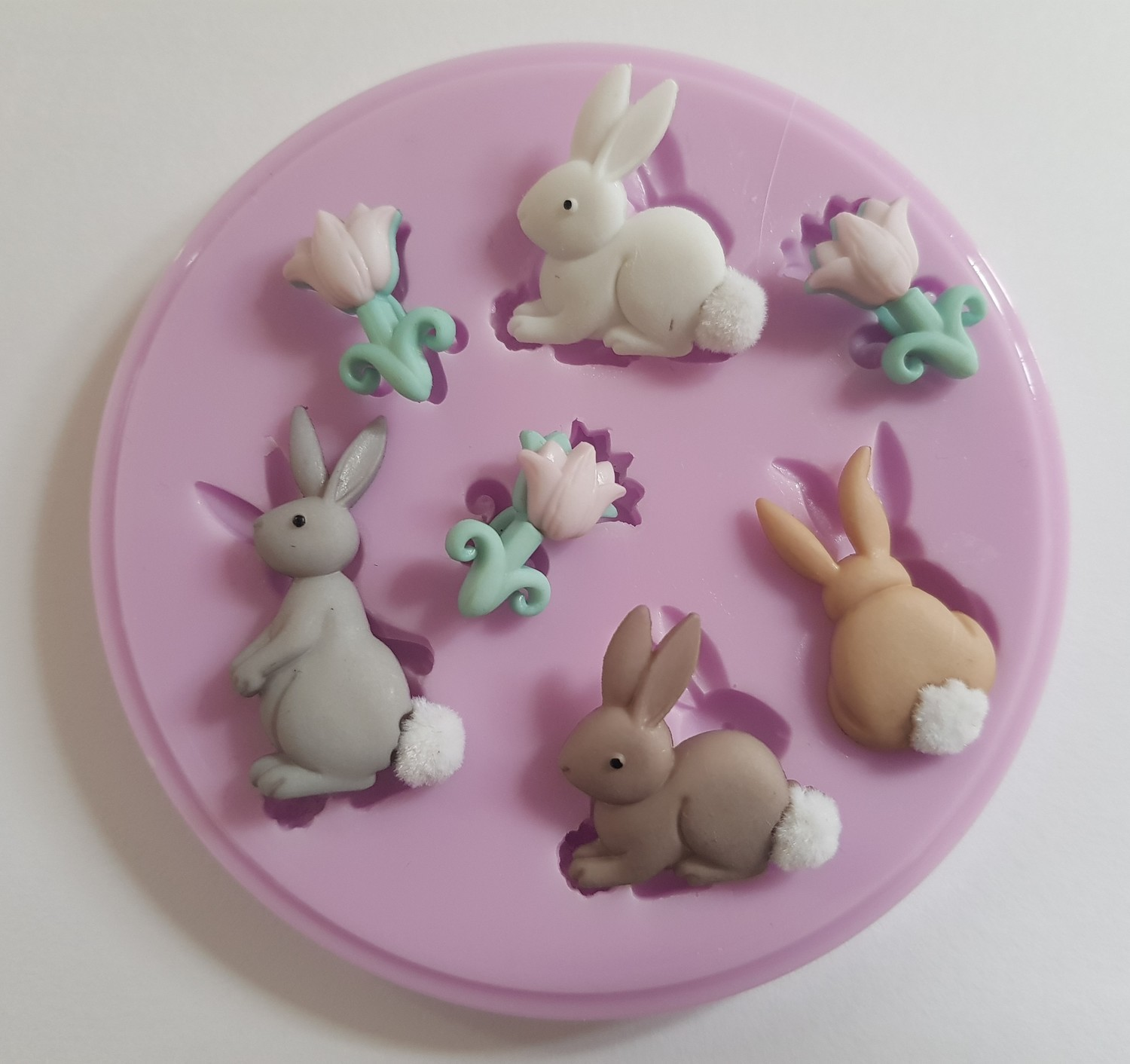 EASTER BUNNIES SILICONE MOULD
