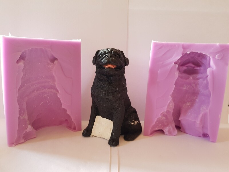 3D LARGE PUG SILICONE MOULD