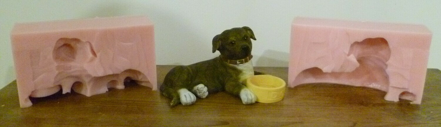 3D STAFFORDSHIRE BULL TERRIER SILICONE MOULD
