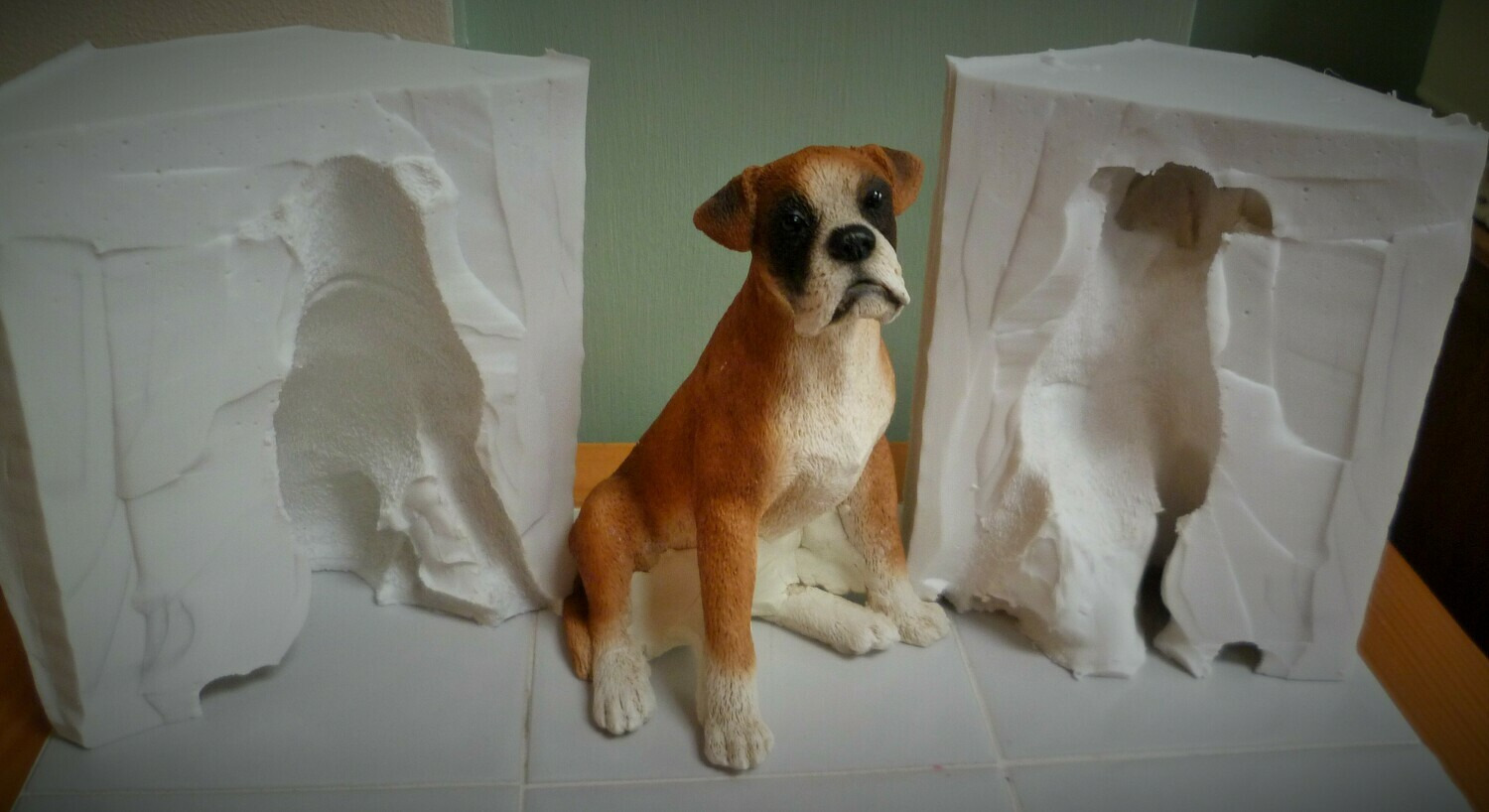 3D LARGE BOXER DOG SILICONE MOULD