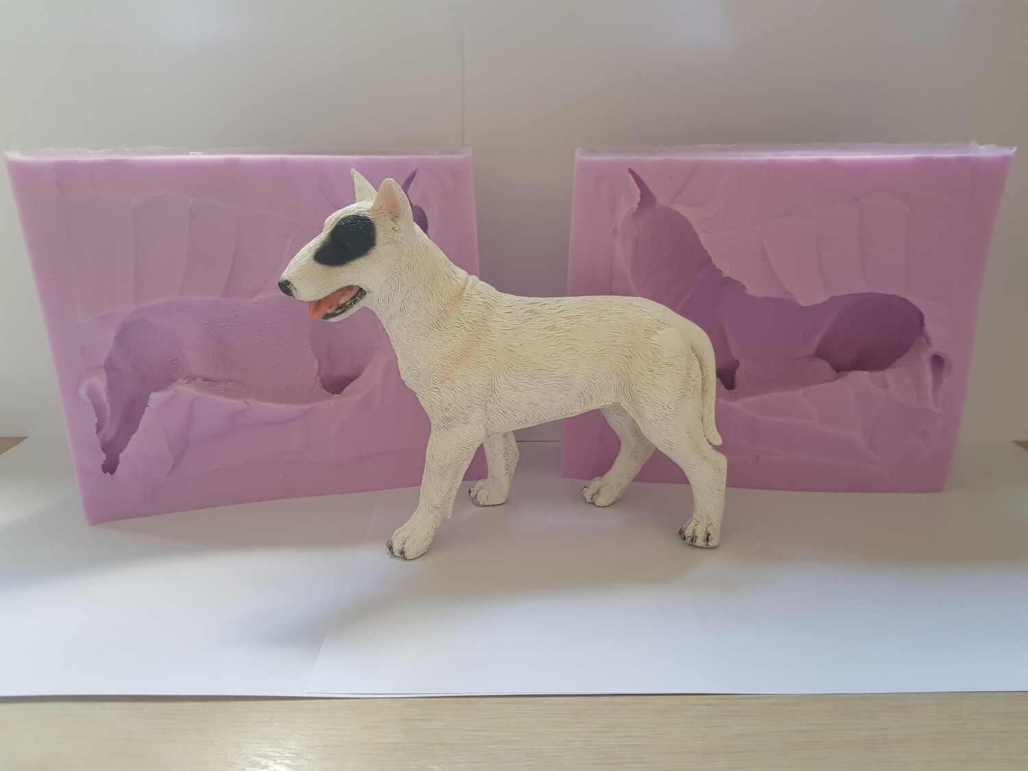 3D LARGE BULL TERRIER DOG SILICONE MOULD