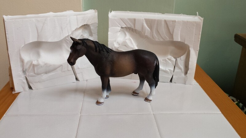 3D HORSE 002 SILICONE MOULD