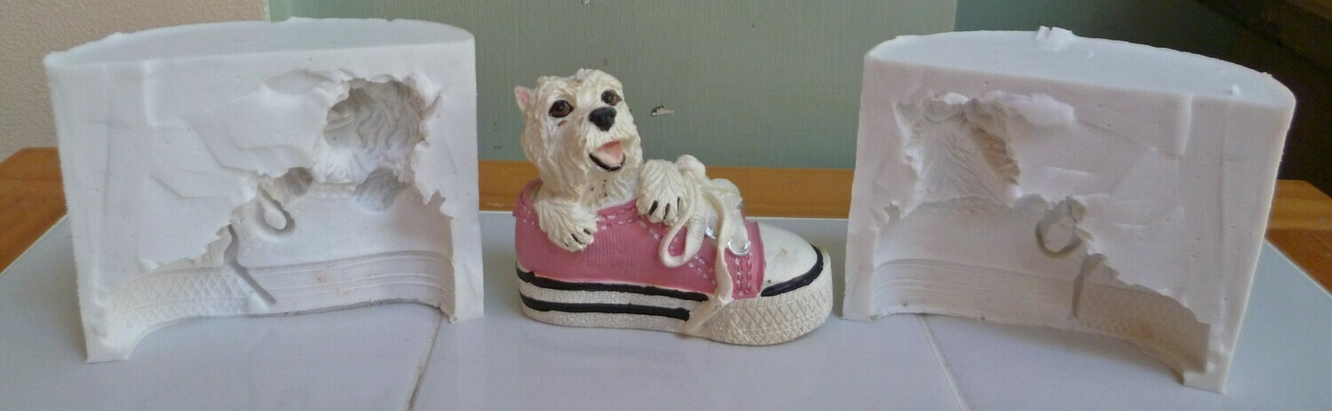 3D WESTIE IN SHOE SILICONE MOULD