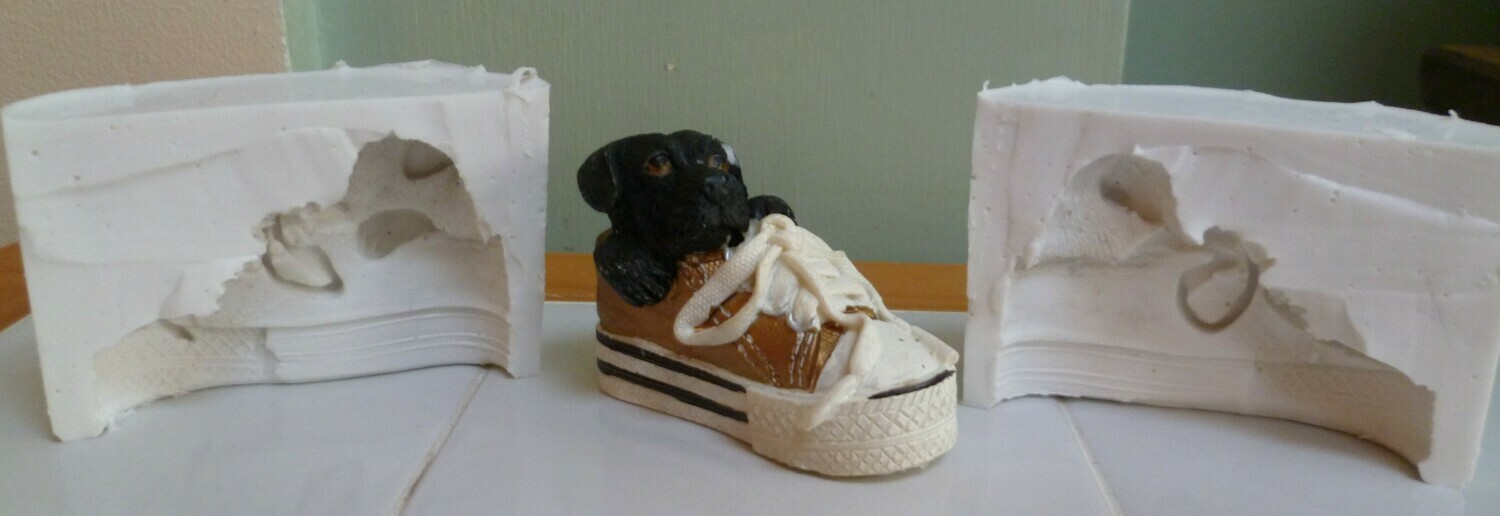 3D LABRADOR IN SHOE SILICONE MOULD