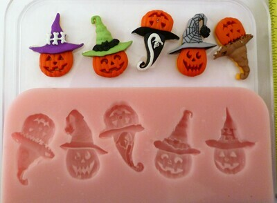 HALLOWEEN PUMPKINS HEAD SET Silicone Mould
