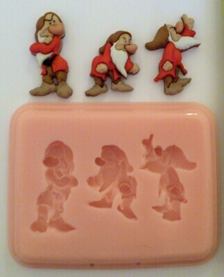 GRUMPY TRIO SILICONE MOULD