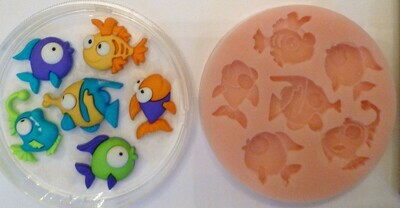 FUNNY FISH SILICONE MOULD