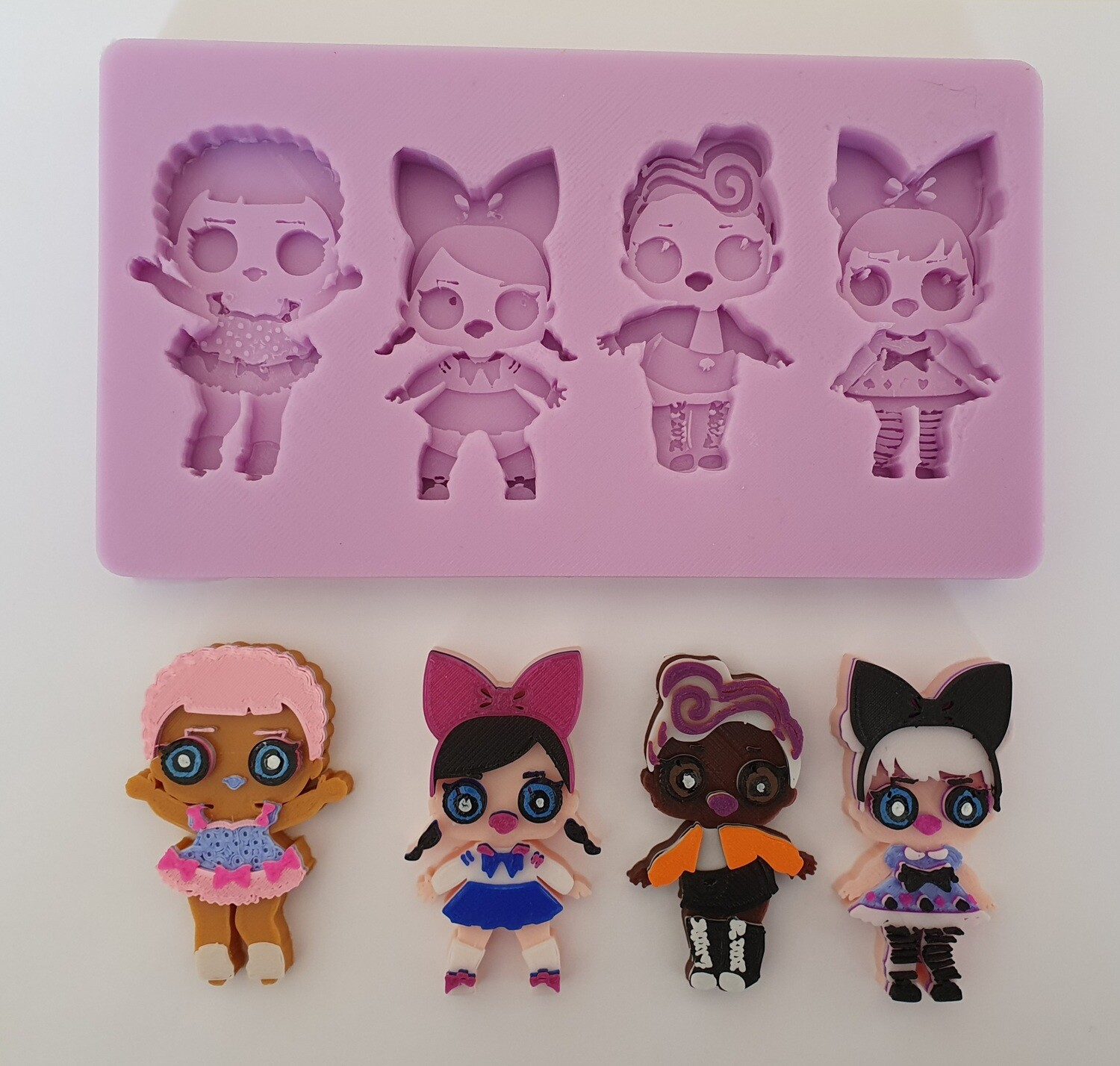 NEW LOL DOLL SET SILICONE MOULD