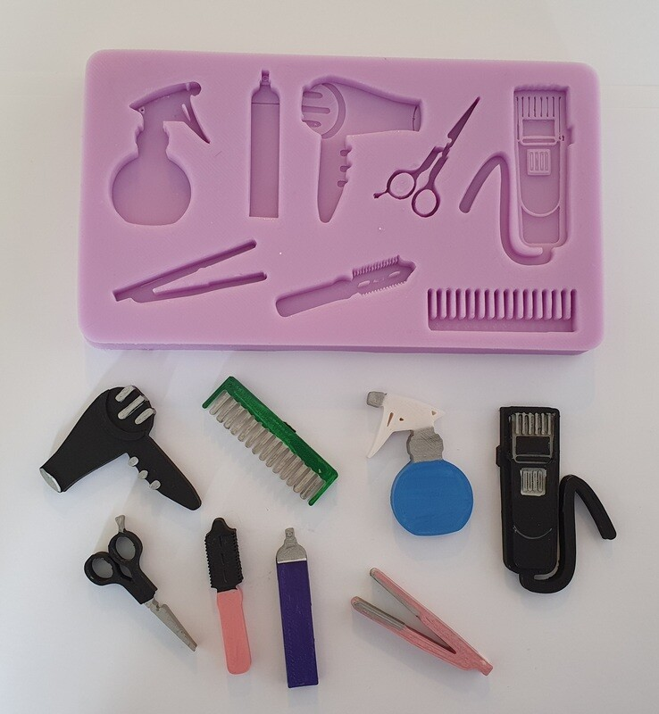 NEW HAIR DRESSING SALON SILICONE MOULD