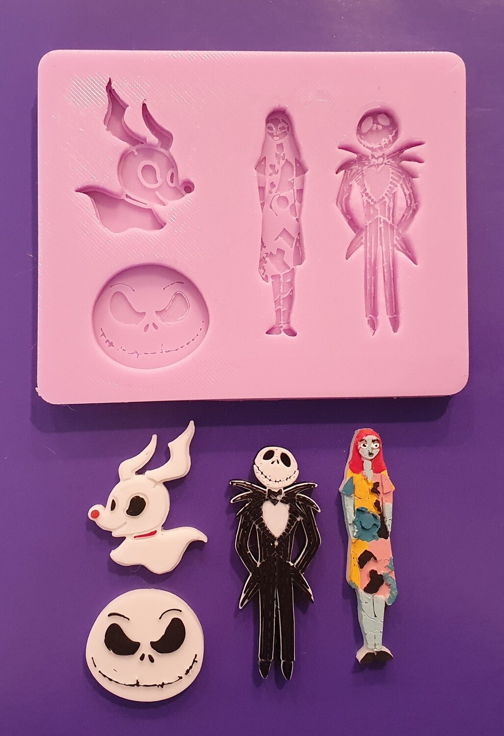NEW NIGHTMARE BEFORE CHRISTMAS SET SILICONE MOULD