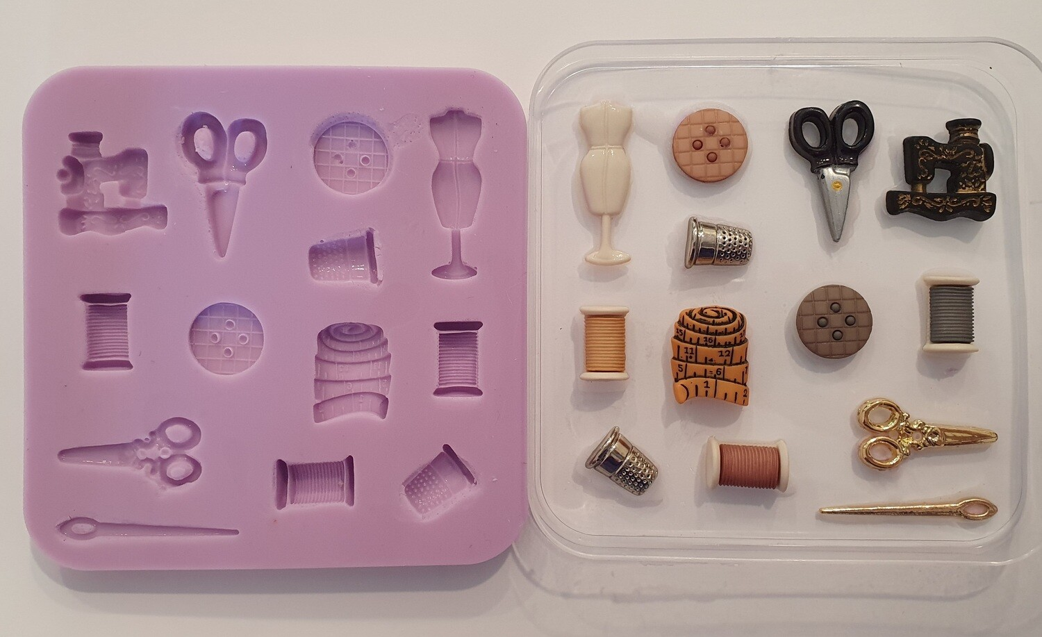 NEW SEWING SET SILICONE MOULD