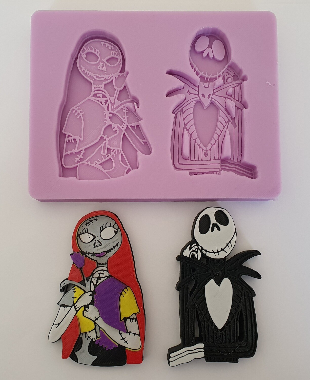 NEW NIGHTMARE BEFORE CHRISTMAS JACK AND SALLY SILICONE MOULD