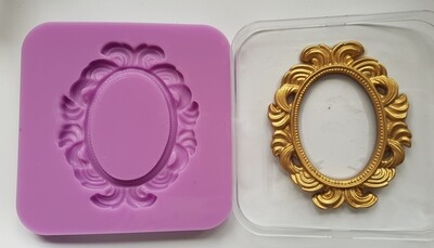 ORNATE OVAL FRAME SILICONE MOULD