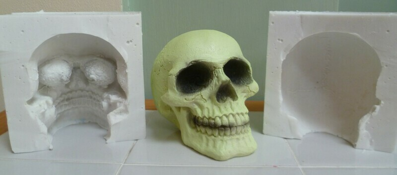 3D 9CM SKULL SILICONE MOULD