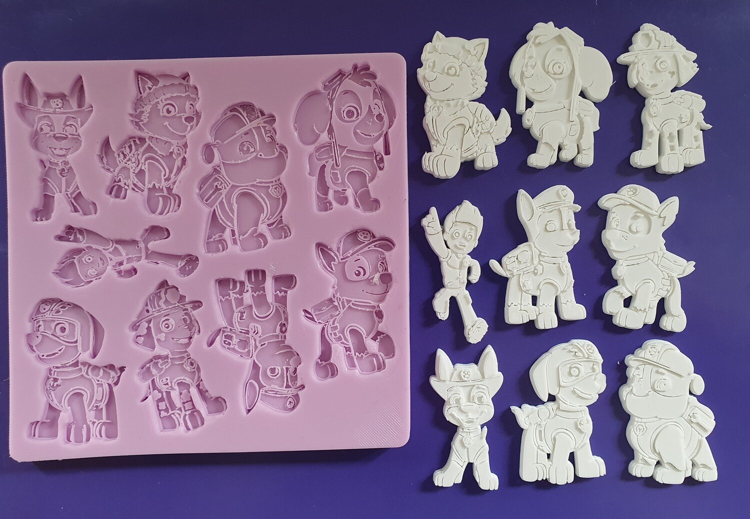 PAW PATROL FIGURES SILICONE MOULD