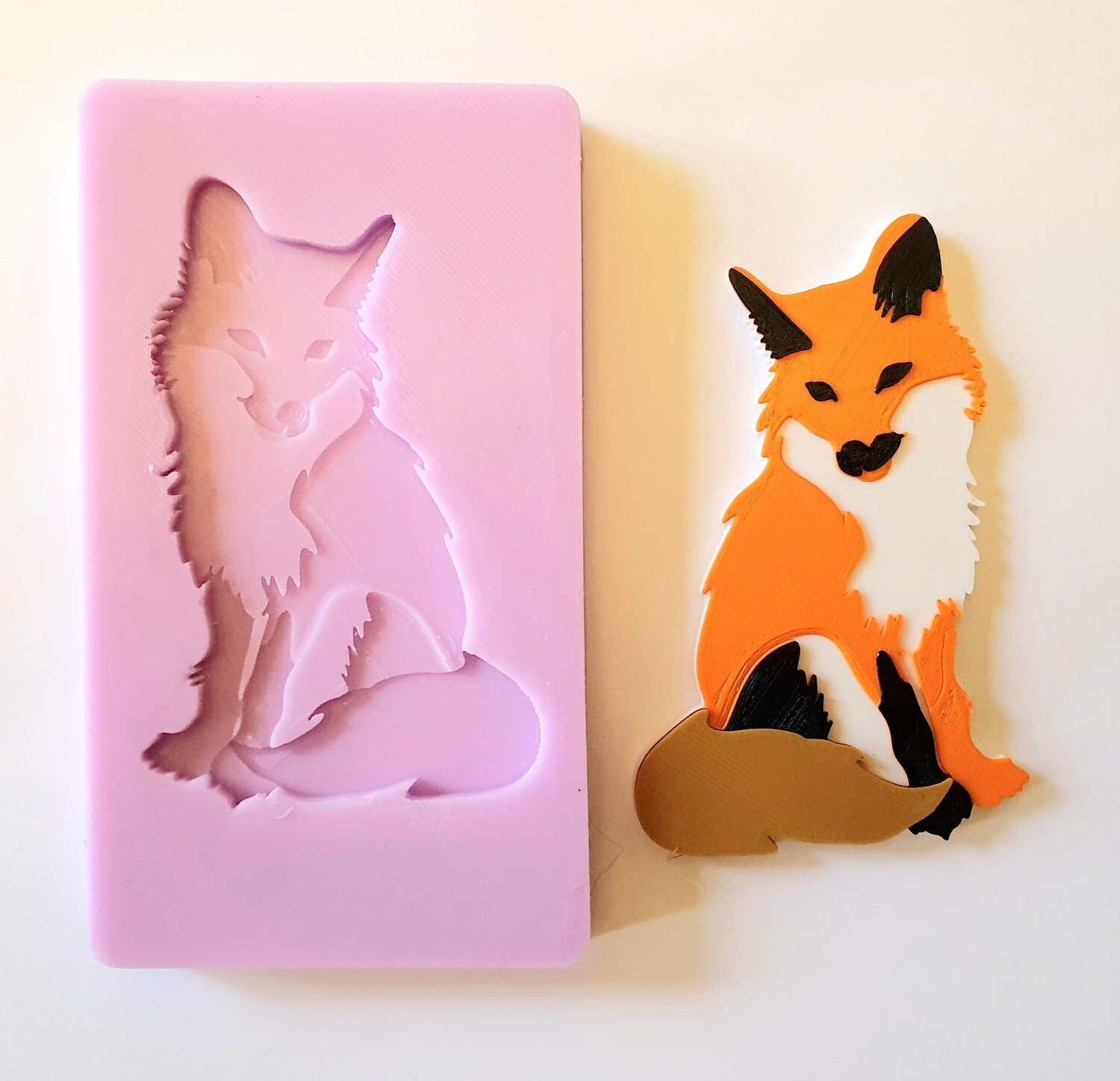 LARGE FOX SILICONE MOULD