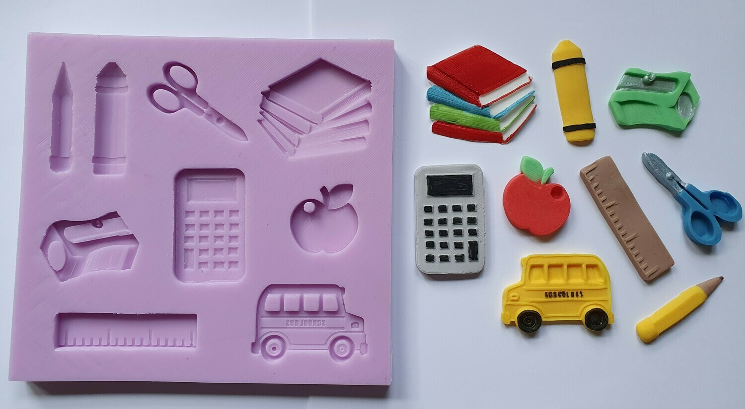 LARGE SCHOOL, TEACHER, EDUCATION SET SILICONE MOULD