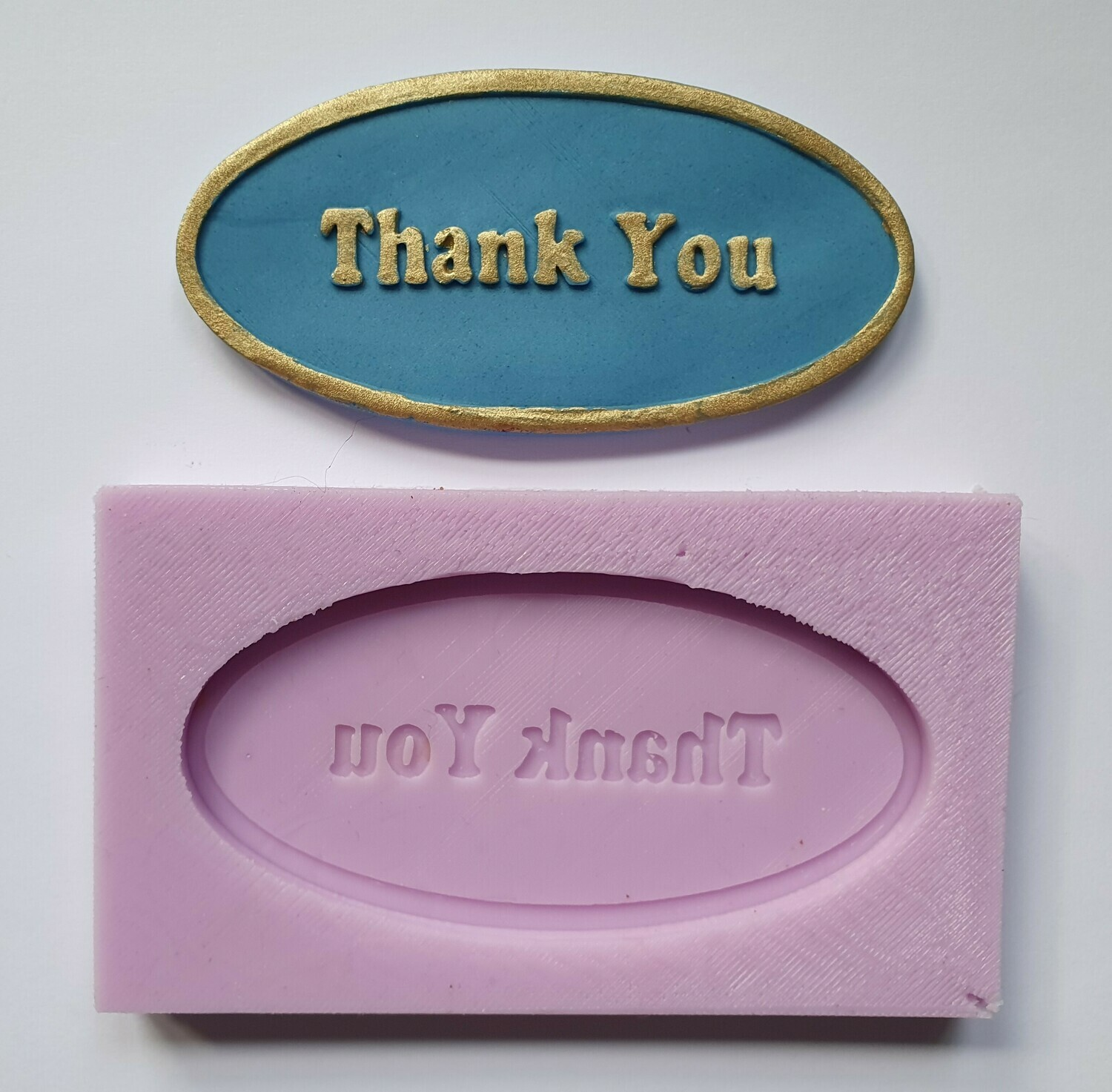 THANK YOU PLAQUE SILICONE MOULD