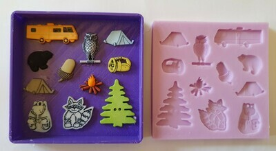 CAMPING SET SILICONE MOULD