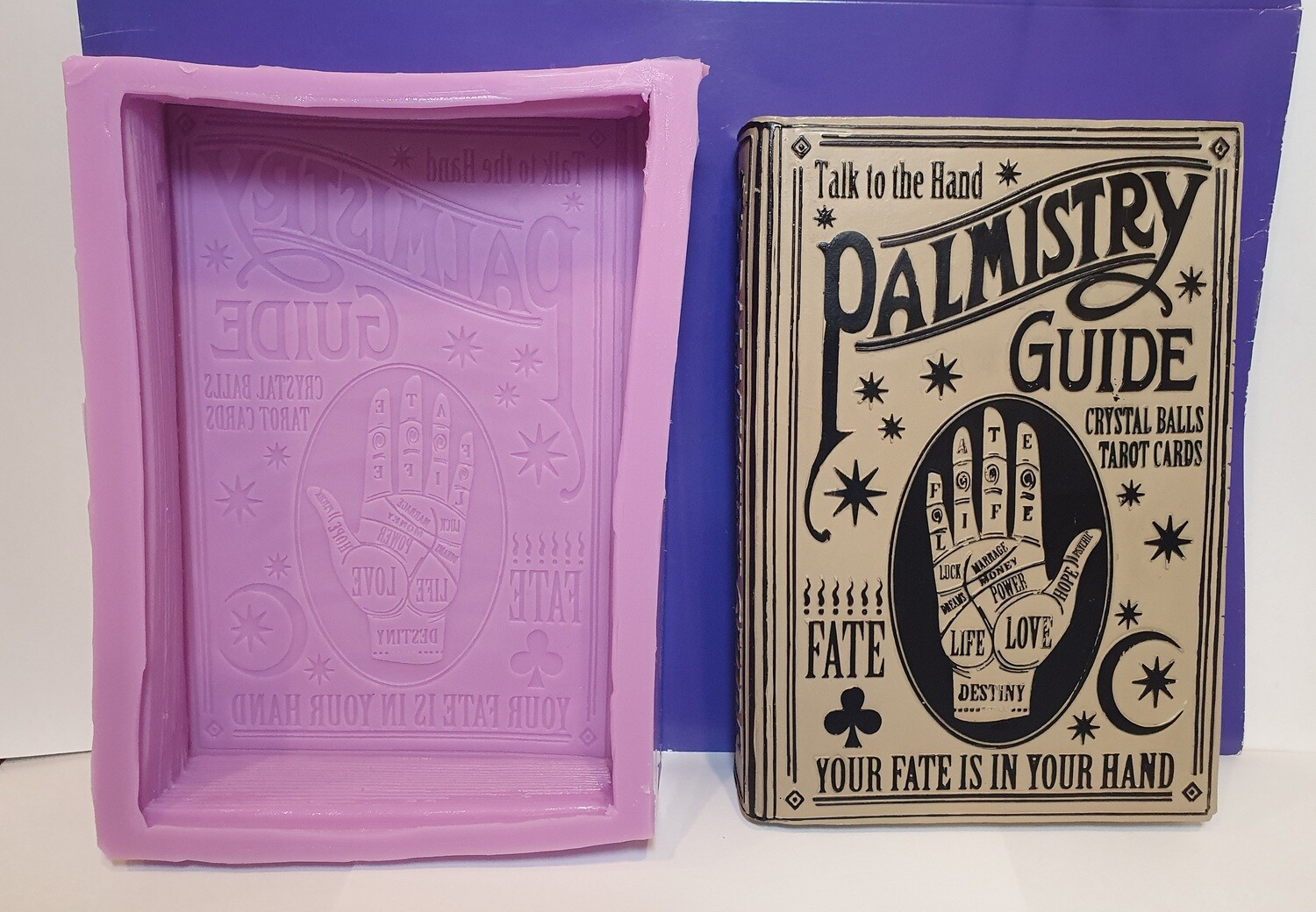 MYSTIC PALM READING BOOK PALMISTRY SILICONE MOULD