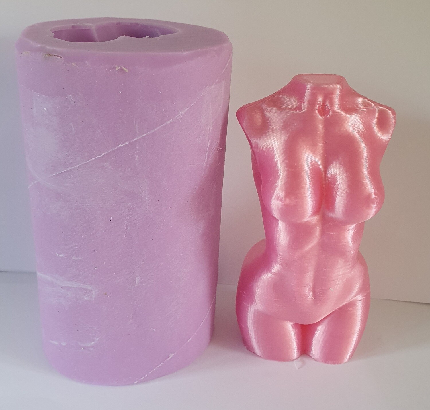 LARGE 5 INCH 3D WOMANS FEMALE TORSO SILICONE MOULD
