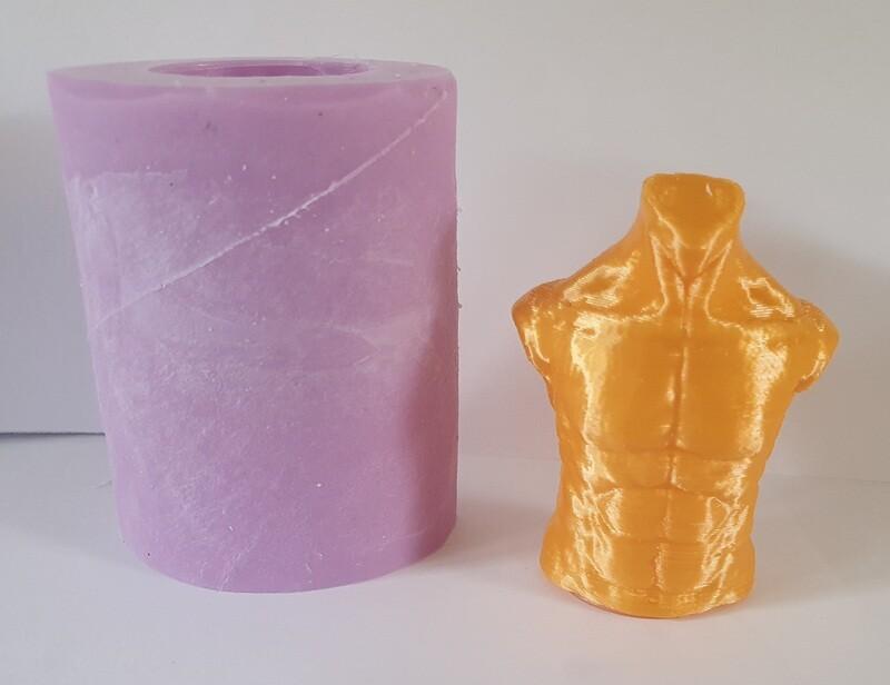 2 INCH 3D MALE TORSO SILICONE MOULD