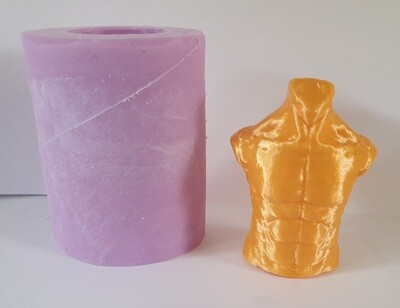 2 INCH 3D MALE TORSO SILICONE MOULD
