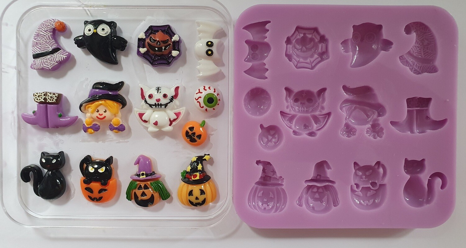 Halloween set 002 Silicone Mould