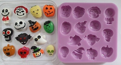Halloween set 003 Silicone Mould