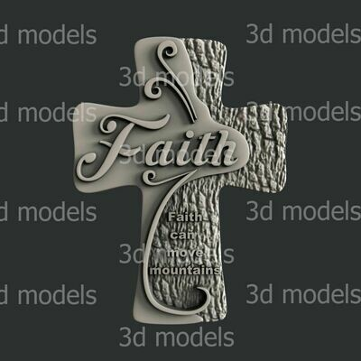 FAITH CROSS SILICONE MOULD