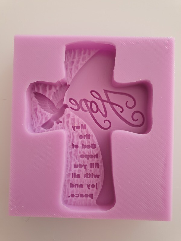 HOPE CROSS SILICONE MOULD