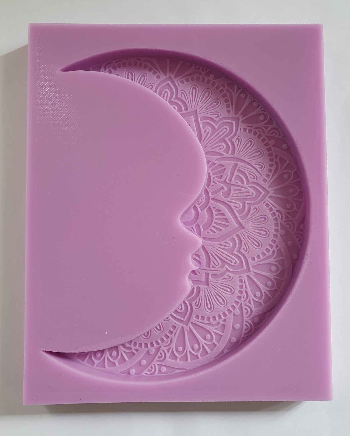 LARGE MANDALA MAN IN MOON SILICONE MOULD