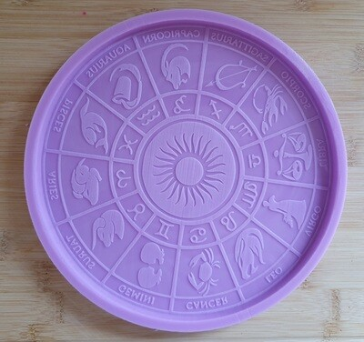 20cm HOROSCOPE ZODIAC CALENDER SILICONE MOULD